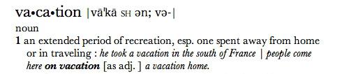 Define the term tourism