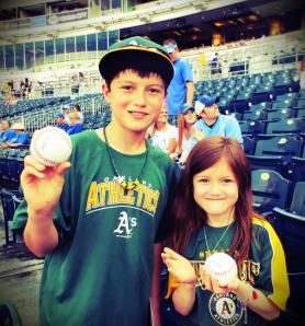 kiddos at ball game