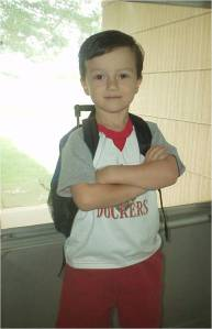 Sean First Day of School 2005